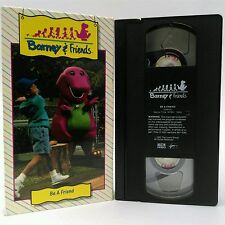 Barney & Friends VHS Be A Friend Three Bears Rap Welcome Song Kids Fun *TESTED