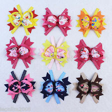 Lot 9pcs 4inch Hair Bows Disney  Girls  Boutique Grosgrain  Headban 015-26-33-S