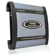 Pyle Academy 2 Ch Two Channel 1000w Blue Bridgeable Car Speaker Amplifier Amp