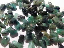 FREE SHIP 100 Genuine Green Emerald gemstone beads gem stone mini chip bead lot