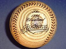 1995 Post Season Cleveland Indians Wood Engraved Signature Baseball MINT RARE!!!