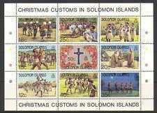 Solomons 1983 Christmas/Customs/Dances 9v sht (n21343)