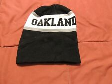Vintage Oakland Raiders Hat Cuffed Bulky Knit Beanie Near Mint Very Nice Cool