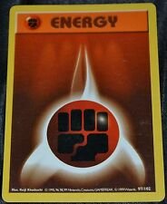 Shadowless Fighting Energy # 97/102 Base Set Pokemon Trading Cards Fist Fight SP
