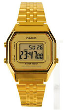 Casio LA680WGA-9D Ladies Gold Tone Digital Watch Mid-Size Retro Vintage New