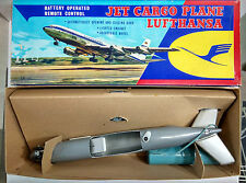 Rare 60s Japan Tin Toy TN Nomura jet plane lufthansa New Old Stock Mint Airplane
