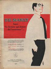 Publicité advertising (Rene Gruau)  DE MARLY chemise