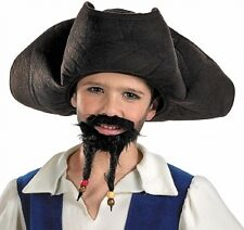 Pirates of the Caribbean Jack Sparrow Child Pirate Hat with Mustache and Goatee