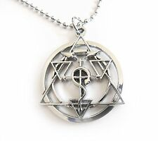 Fullmetal Alchemist Cross Seal Pendant Cosplay Chain Necklace Full Metal Elric