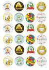 24 CONGRATULATIONS CUPCAKE TOPPERS ICED ICING FAIRY CAKE BUN TOPPERS