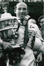 Stirling Moss Hand Signed Podium F1 12x8 Photo 2.
