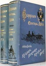 1885 1stED RUSSIAN CENTRAL ASIA ILLUSTRATED COLOR FOLD OUT MAPS VG+ CONDITION