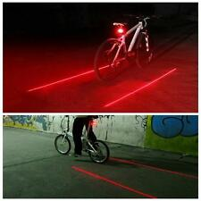 5 LED Laser Mountain Bicycle Bike Cycle Rear Tail Warning Alarm Night Lamp Light