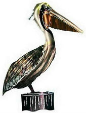 LARGE METAL 3-D PELICAN WALL HANGING - WALL ART - REFRAXTIONS