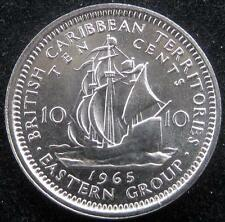 British Caribbean Territories 10 Cents 1965 CH BU