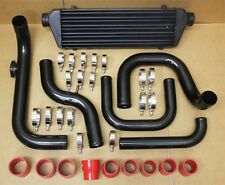 CIVIC INTEGRA B16 B18 BOLT-ON BLACK TURBO INTERCOOLER PIPING KIT RED COUPLERS