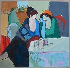 "Tarkay  ""Evening Chat"" Serigraph Signed and Numbered HC 25/50 with a COA"