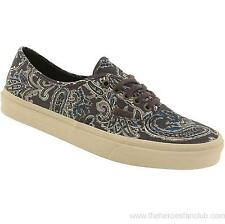 Vans Authentic CA Paisley Charcoal Gray Mens Canvas Shoes 8.5 Womens 10 Sk8