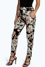 Ladies Womens  Ana Dark Floral Skinny Trousers Size 6,8,10,12,14