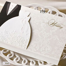 30 Personalized Laser Cut Printing Wedding Invitation Cards with Envelopes Seals