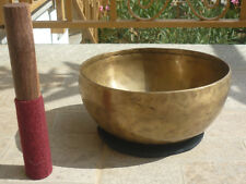 CAMPANA TIBETANA GRANDE REALIZZATA A MANO yoga arte oriente sette metalli