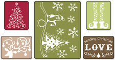 Sizzix Textured Impressions A2 Embossing Folders 5/Pkg-Sending Christmas Love