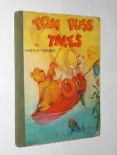 Marten Toonder Tom Puss Tales Vintage Board Backed Book 1940's.
