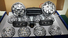 Land Rover Defender TD5 TDCi Front Rear Wing Fog & Reverse Full LED Lights Set