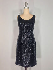 Vintage 1950s 50s black sequin fitted wiggle pin-up cocktail dress MARILYN