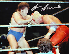 4 LOT BRUNO SAMMARTINO DOINK TONY ATLAS BRUTUS BEEFCAKE SIGNED WWE WCW COA 8x10