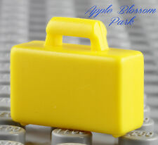 NEW Lego City Minifig YELLOW BRIEFCASE - Boy/Girl Minifigure Bag Suit Case