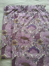 "70s retro Mellstock Grace Sullivan purple floral fabric/curtains 46 x 54"" each 1"