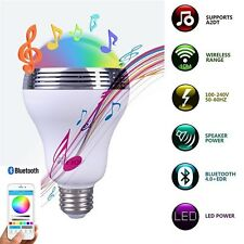 2 pcs E27 Bluetooth APP Control Music Audio Speaker LED RGB Smart Bulb Light