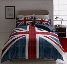 Union Jack Reversible King Size Duvet Cover Bedding Set NEW