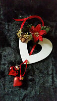 SHABBY CHIC HANDCRAFTED DEORATIVE HEART CHRISTMAS TREE HANGING DECORATION