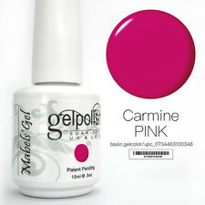 15ml Mabel's Gel Nail Art Soak Off Color UV Gel Polish UV Lamp - Carmine Pink