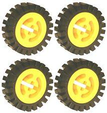 Falta Lego Ladrillos 3482 & 3483 x 4 Amarillo Rueda De Gran & neumáticos Pequeñas