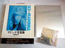 MADONNA Sex JAPAN EDITION PHOTO BOOK 1993 with BOX & Erotic CD