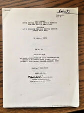 NASA Thiokol Shuttle Subscale Solid Motor SRM Flex Bearing Test Report 1976