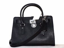 NWT Michael Kors Hamilton Saffiano Leather Medium Satchel. Navy / Black