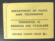 RHODESIA/NYASALAND 5/- Complete Booklet with Interleaving SGSB1 FP5921