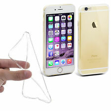 CLEAR ULTRA SLIM 0.3MM SILICONE SOFT GEL CASE COVER FOR IPHONE 6 6S