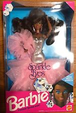 RARE NRFB Sparkle Eyes Barbie African Black Hair 1992 MINT NEW 5950