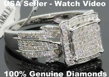 .64 CARAT WOMENS LADIES WHITE GOLD FINISH DIAMOND ENGAGEMENT BRIDAL WEDDING RING