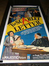 """THE SCARLET LETTER Original Movie Poster, 41"""" x 79"""", C8.5 Very Fine/Near Mint *R"""