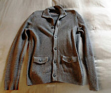 BEN SHERMAN, cardigan, wool / lana, grey / grigio, SMALL