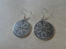 TALISMAN of JUPITER Solomon Pentacle SEAL Good Luck Wealth Protection Earrings