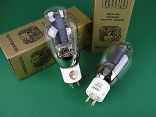 2 x 300b eh GOLD Trioden NUOVO-Factory matched pair - > TUBE AMP AMPLIFICATORE Tubi