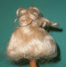 "doll wig blond/ mohair 8"" with curls around"