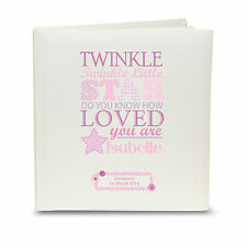 Personalised Baby Girl Pink Twinkle Twinkle little star Photo Album great gift